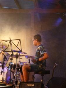 Schlagzeuger beim Sommerkonzert